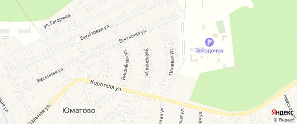 Звездная улица на карте деревни Юматово с номерами домов