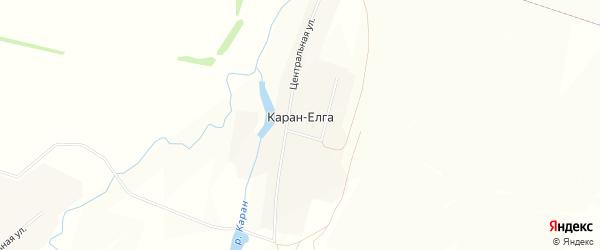 Карта села Карана-Елги в Башкортостане с улицами и номерами домов