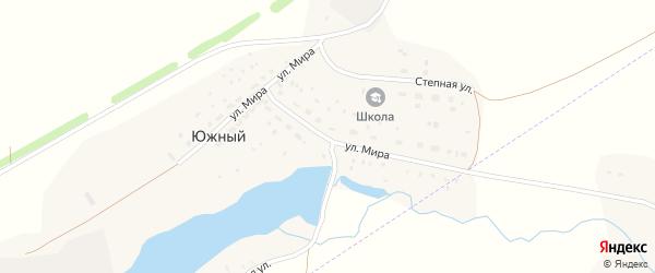 Улица Мира на карте деревни Южного с номерами домов