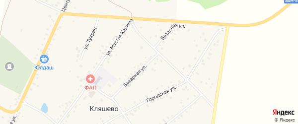 Базарная улица на карте села Кляшево с номерами домов
