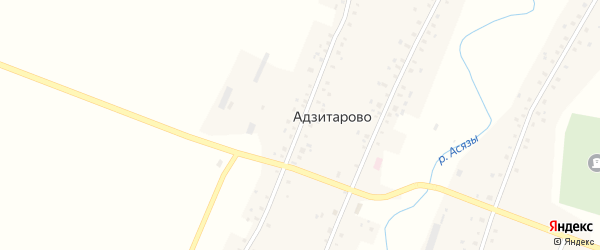 Советская улица на карте села Адзитарово с номерами домов