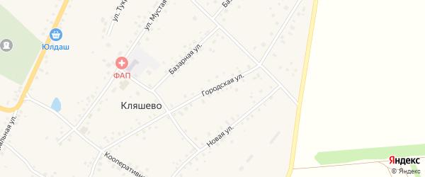 Городская улица на карте села Кляшево с номерами домов