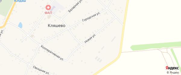 Новая улица на карте села Кляшево с номерами домов