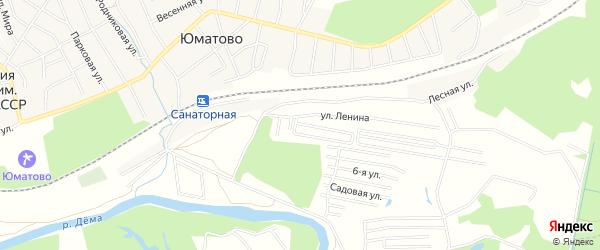 СНТ Березка на карте Уфимского района с номерами домов