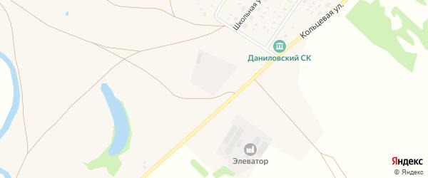 Кольцевая улица на карте деревни Даниловки с номерами домов