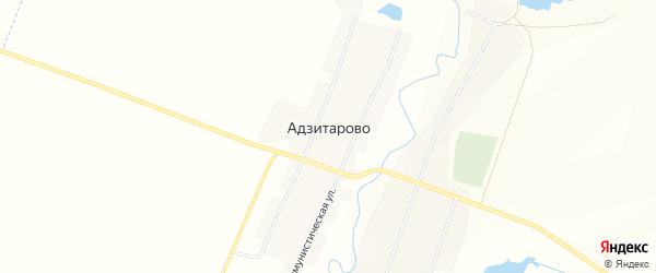 Карта села Адзитарово в Башкортостане с улицами и номерами домов