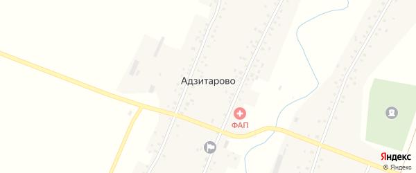 Коммунистическая улица на карте села Адзитарово с номерами домов