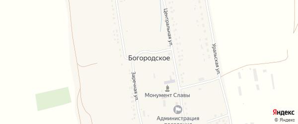 Заречная улица на карте Богородского села с номерами домов
