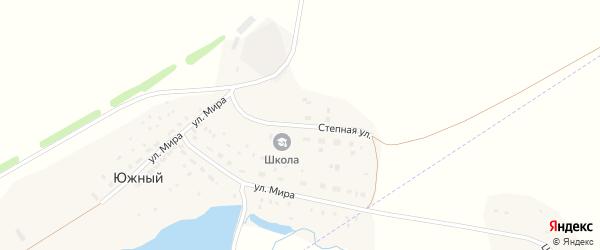 Степная улица на карте деревни Южного с номерами домов