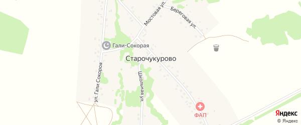 Школьная улица на карте села Старочукурово с номерами домов