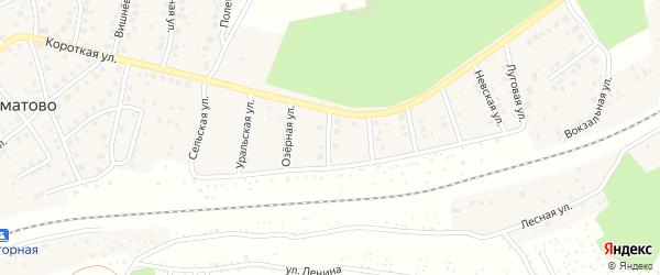 Российская улица на карте деревни Юматово с номерами домов