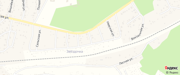 Улица Фрунзе на карте деревни Юматово с номерами домов