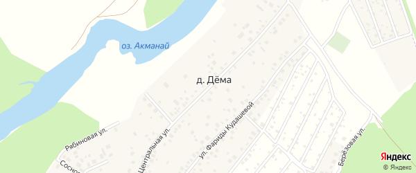 Центральная улица на карте деревни Демы с номерами домов