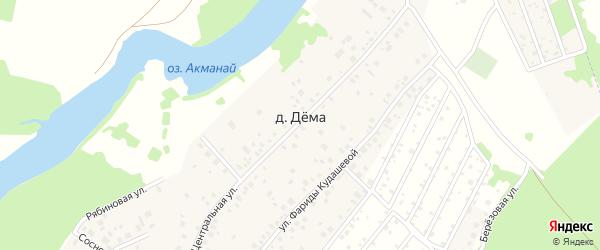 Озерная улица на карте деревни Демы с номерами домов