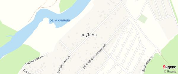 Монолитная улица на карте деревни Демы с номерами домов