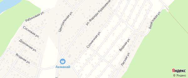 Солнечная улица на карте деревни Демы с номерами домов