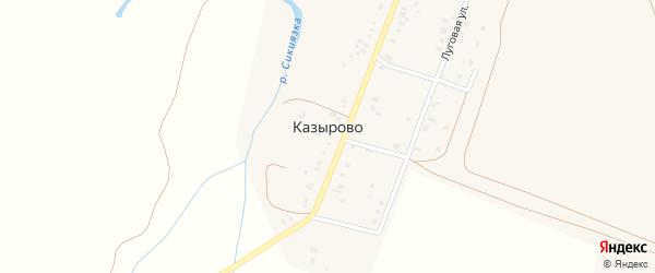 Тополиная улица на карте села Казырово с номерами домов