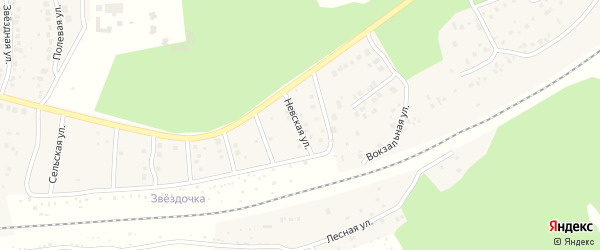 Невская улица на карте деревни Юматово с номерами домов