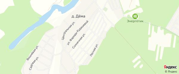 СТ СНО Акманай на карте деревни Демы с номерами домов