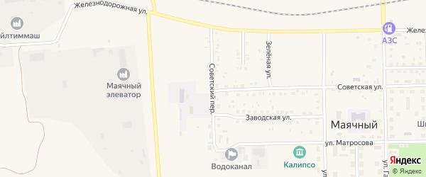 Улица Кирова на карте села Маячного с номерами домов