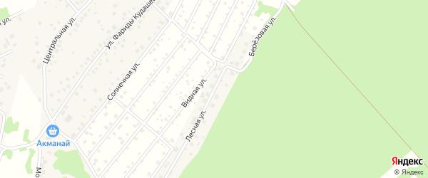 Лесная улица на карте деревни Демы с номерами домов