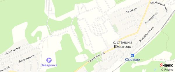 СНТ Лесной на карте Уфимского района с номерами домов