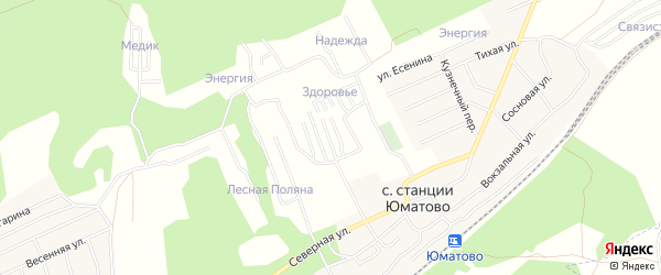 СНТ Спутник на карте Уфимского района с номерами домов