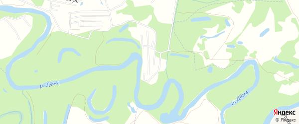 СНТ Радуга на карте Уфимского района с номерами домов