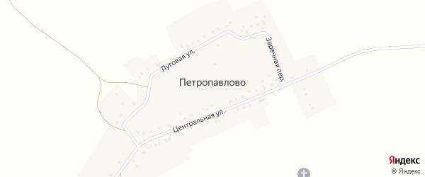 Центральная улица на карте села Петропавлово с номерами домов