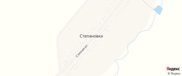 Интернациональная улица на карте села Степановки с номерами домов