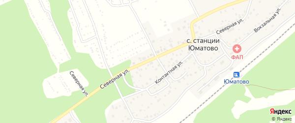 Северная улица на карте села ст Юматово с номерами домов