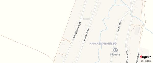 Молодежная улица на карте села Верхнекудашево с номерами домов