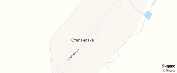Степная улица на карте села Степановки с номерами домов