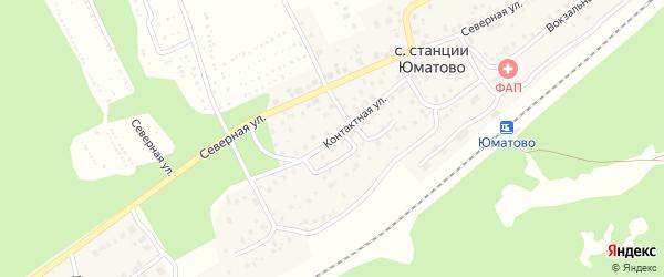 Контактная улица на карте села ст Юматово с номерами домов