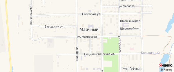 Улица Матросова на карте села Маячного с номерами домов