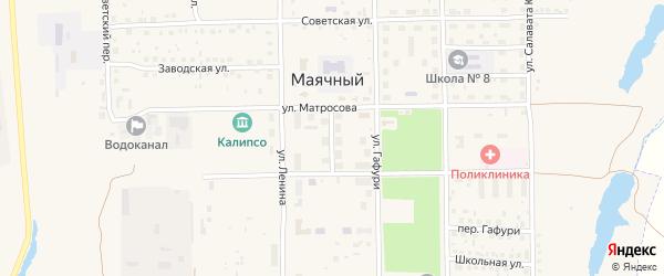 Переулок Матросова на карте села Маячного с номерами домов