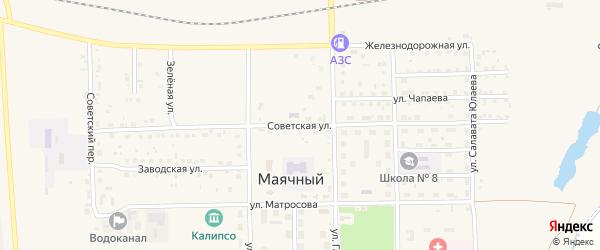 Советская улица на карте села Маячного с номерами домов
