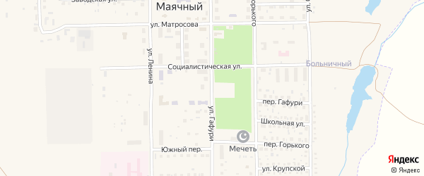 Улица Гафури на карте Кумертау с номерами домов