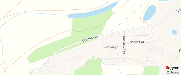 Озерная улица на карте деревни Лекаревки с номерами домов