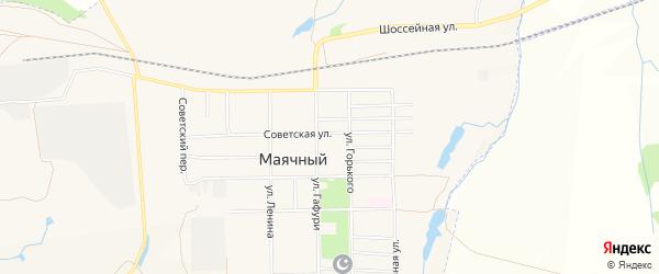 Карта села Маячного города Кумертау в Башкортостане с улицами и номерами домов