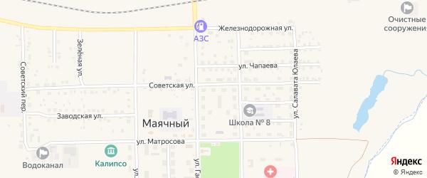 Спортивный переулок на карте села Маячного с номерами домов