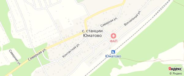 Окружной переулок на карте села ст Юматово с номерами домов