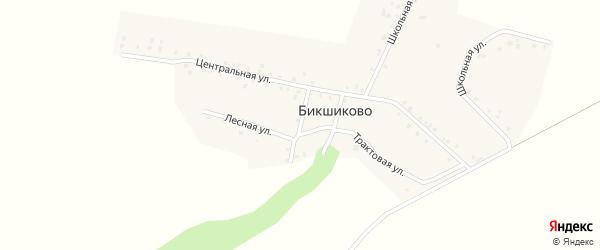 Садовая улица на карте деревни Бикшиково с номерами домов