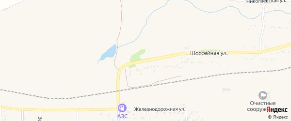 Шоссейная улица на карте села Маячного с номерами домов