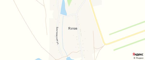 Ялчикаевская улица на карте деревни Язлава с номерами домов