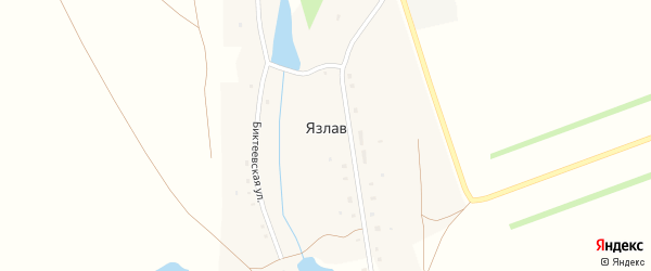 Биктеевская улица на карте деревни Язлава с номерами домов