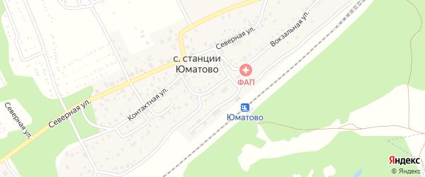 Вокзальная улица на карте села ст Юматово с номерами домов