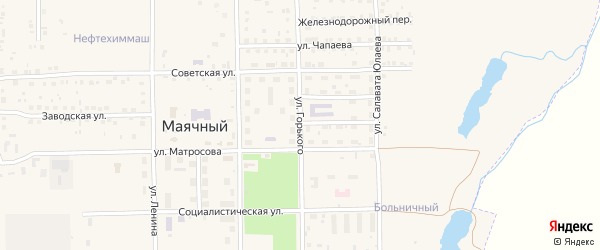 Улица Горького на карте села Маячного с номерами домов