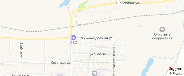 Железнодорожная улица на карте села Маячного с номерами домов