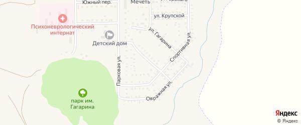 Комсомольская улица на карте села Маячного с номерами домов